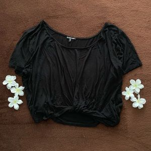 Black Knotted Top